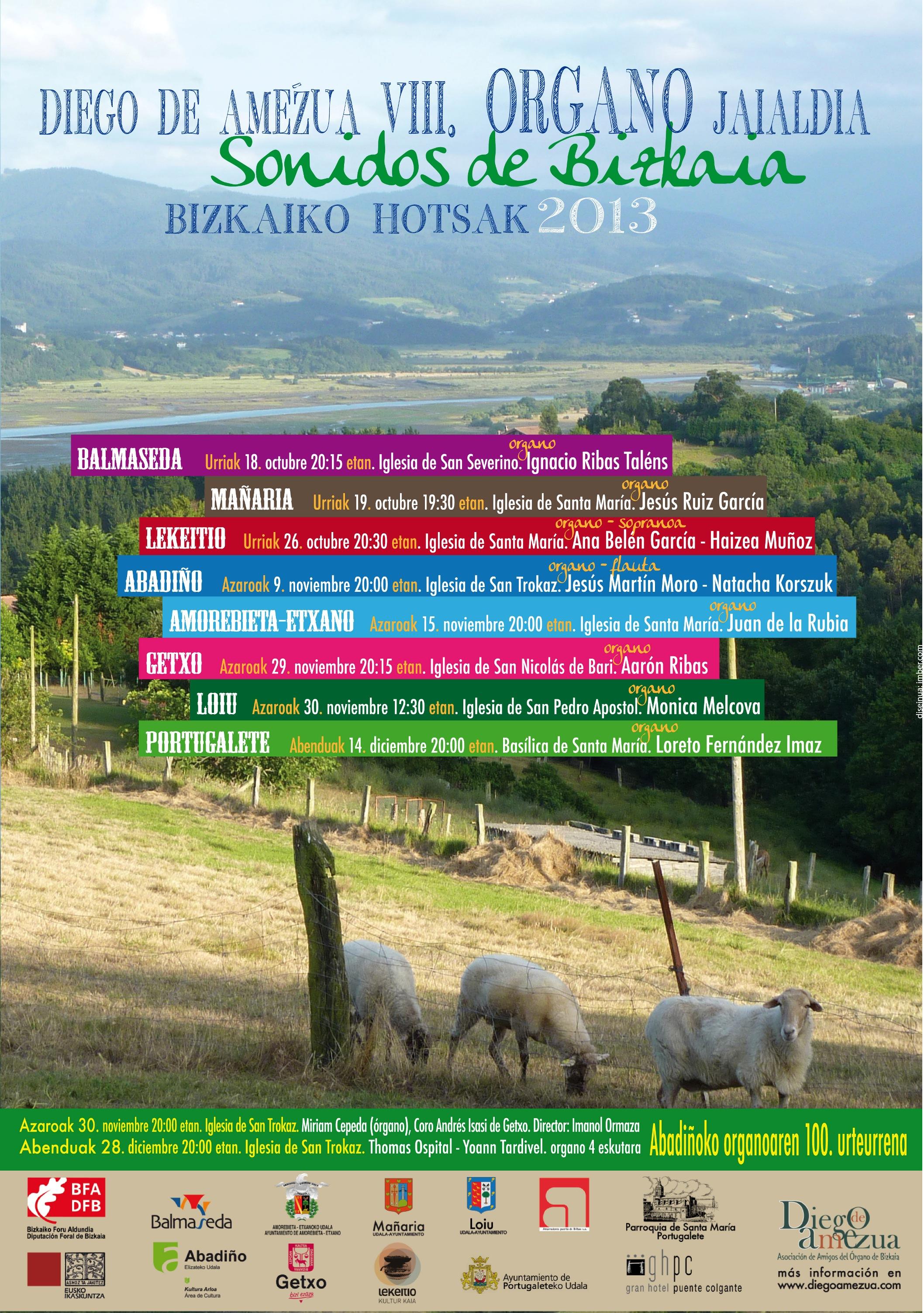 """VIII Festival de Órgano de Bizkaia """"Bizkaiko hotsak"""""""