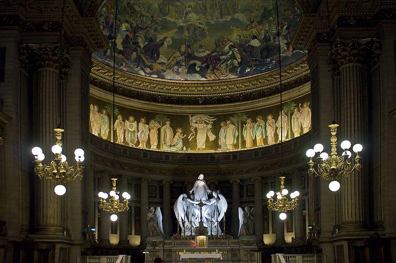 Iglesia de La Madeleine de París, donde tuvo lugar la primera interpretación del Requiem de Gabriel Fauré en 1888. (Foto: wikipedia.org)