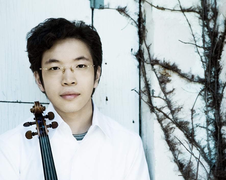 El joven violinista Paul Huang. Fotografía: Lisa-Marie Mazzucco