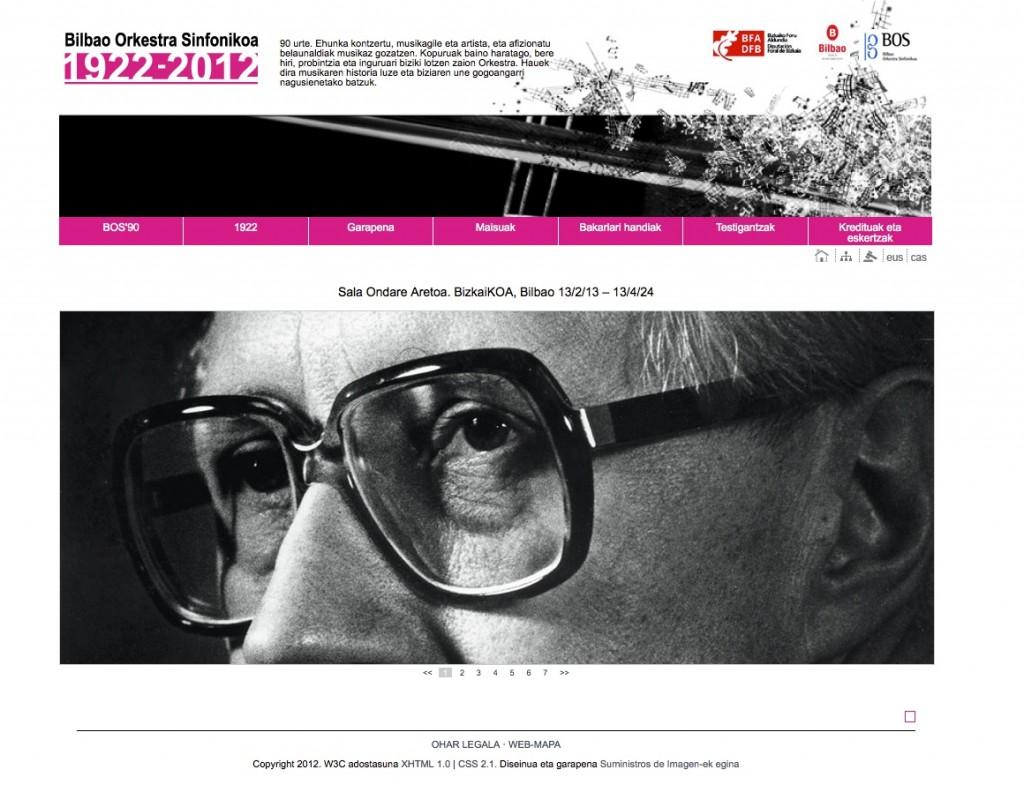 Mstislav Rostropovich en la home de www.bos90.net página sobre la exposición de la BOS que continúa activa.