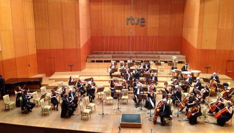 La BOS, minutos antes de comenzar su concierto en el Teatro Monumental de Madrid