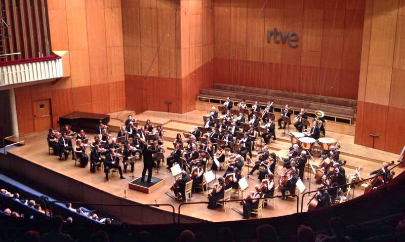 Neuhold, en el inicio de la interpretación de la Cuarta de Bruckner, esta noche en Madrid