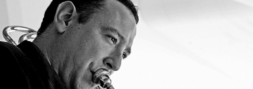 Alberto Urretxo, trombonista. Fotografía: proporcionada por el músico.