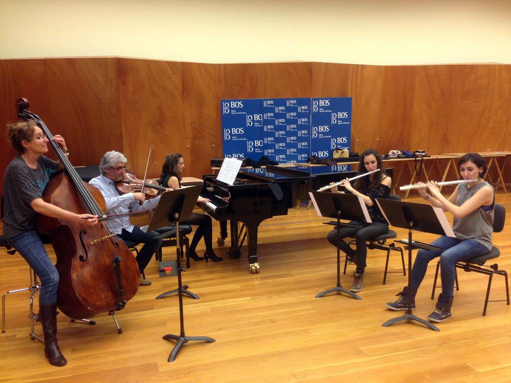 BOSlaris se presenta en concierto este sábado en BBK Foto del ensayo de uno de los grupos, proporcionada por BOS