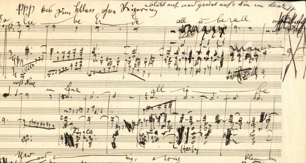 Manuscrito – Facsímil de Das Lied von der Erde: Der Abschied. [Willem Mengelberg Archive, Nederlands Muziek Institut, La Haya]