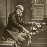 Cesar Franck retratado por Jeanne Rongier en su órgano de la Basílica de Santa Clotilde de París.