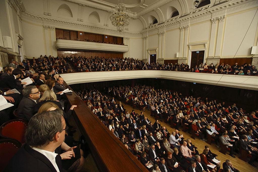 Ala Sala Filarmónica de Varsovia en el acto de entrega de los premios ICMA de 2014 Foto: @Bruno Fidrych / Beethoven Festival Warsaw