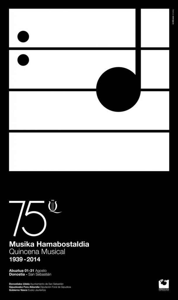 Cartel anunciador de la 75ª Quincena Musical