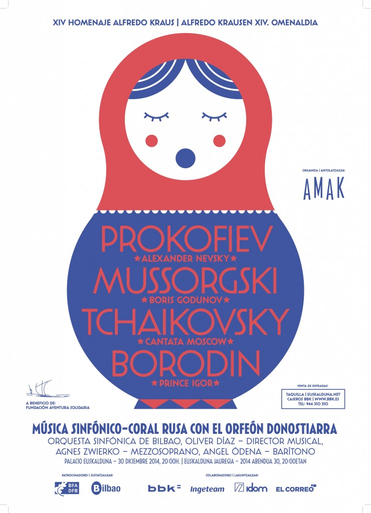 Cartel anunciador del XIV homenaje a Alfredo Kraus