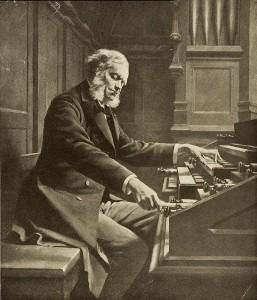 César Franck en el órgano de Saint Sulpice construido por Aristide Cavaillé-Coll