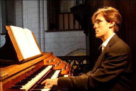 El joven organista francés Matthieu de Miguel.