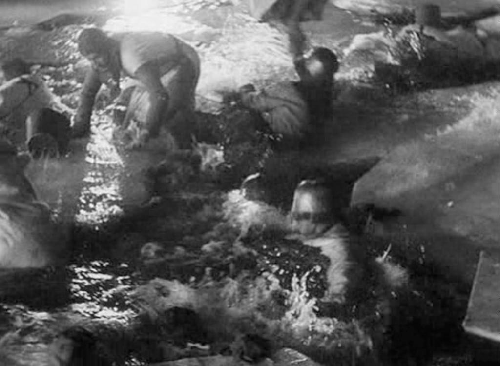 Fotograma del filme correspondiente al N. 6 de la Cantata. Fotografía: Eduard Tisse