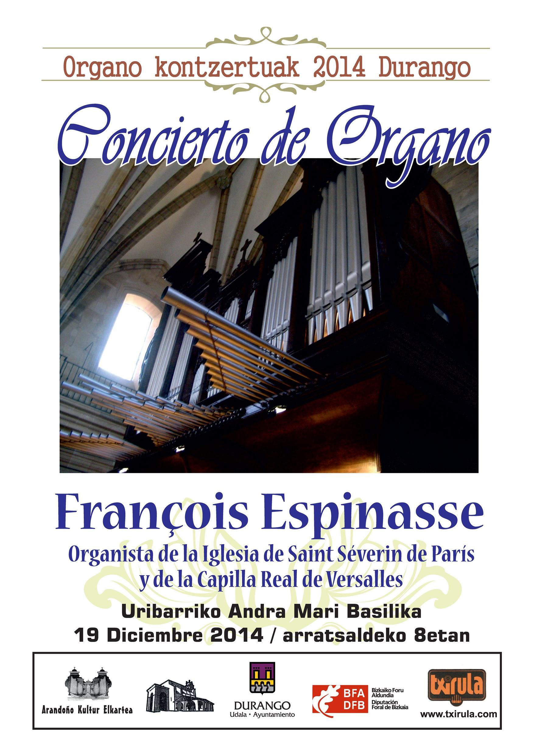 Órgano: El Nöel y la Pastoral de la mano de François Espinasse