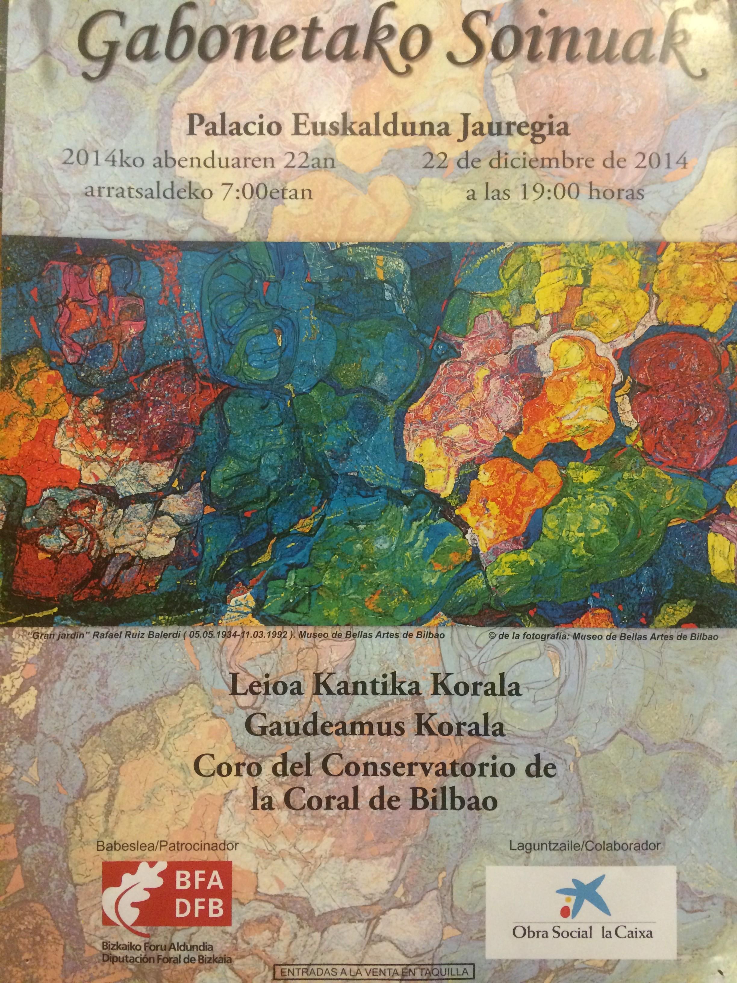 Conciertos corales en Bizkaia: música navideña