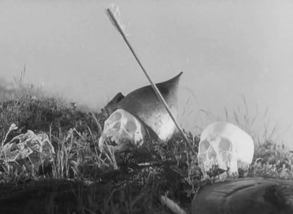 Fotograma del filme correspondiente al N. 1 de la Cantata. Fotografía: Eduard Tisse