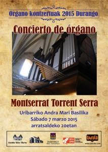 Concierto de Montserat Torrent en Durano. 7-III-2015
