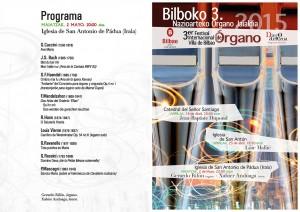 Programa concierto Gerardo Rifón y Xabier Anduaga. 2-V-2015