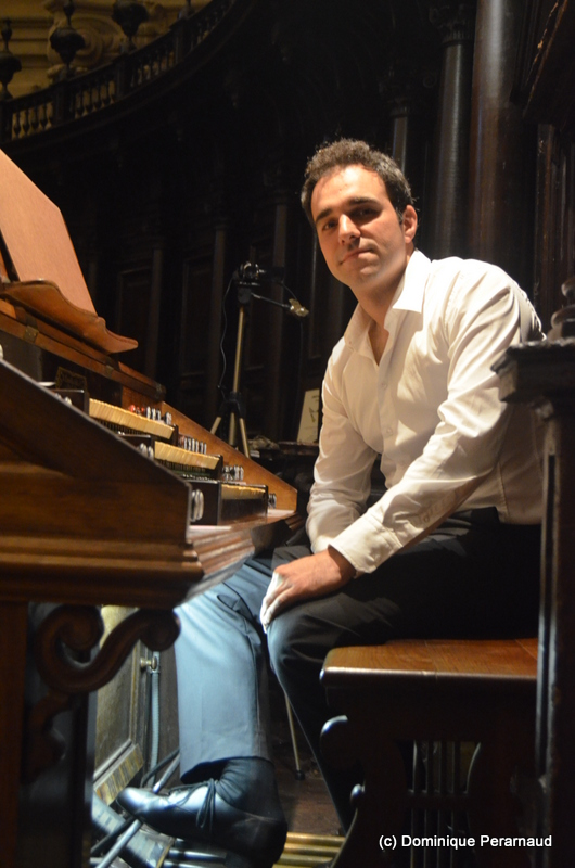 Juan de la Rubia, organista. Foto: Dominique Peramaud