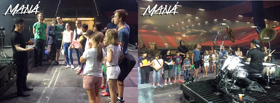 Alumnos y alumnas del Conservatorio Arriaga de Bilbao, en el BEC con Maná. Fotos: © Maná @manaoficial