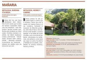 Jornadas europeas de patrimonio 2015 en Mañaria