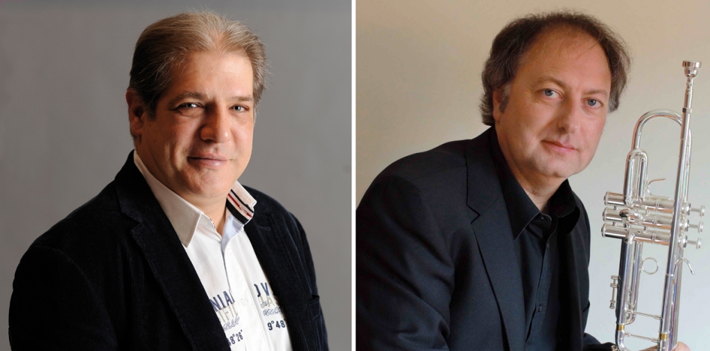 Miguel Arbelaiz y Vicente Olmos. Foto Arbelaiz: Enrique Moreno Esquibel / BOS'90. Foto Olmos: http://www.vicenteolmos.webs.com