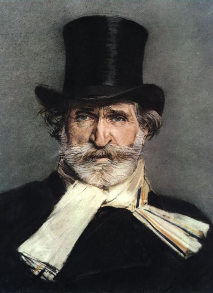 G. Verdi retratado por Giovanni Boldini.