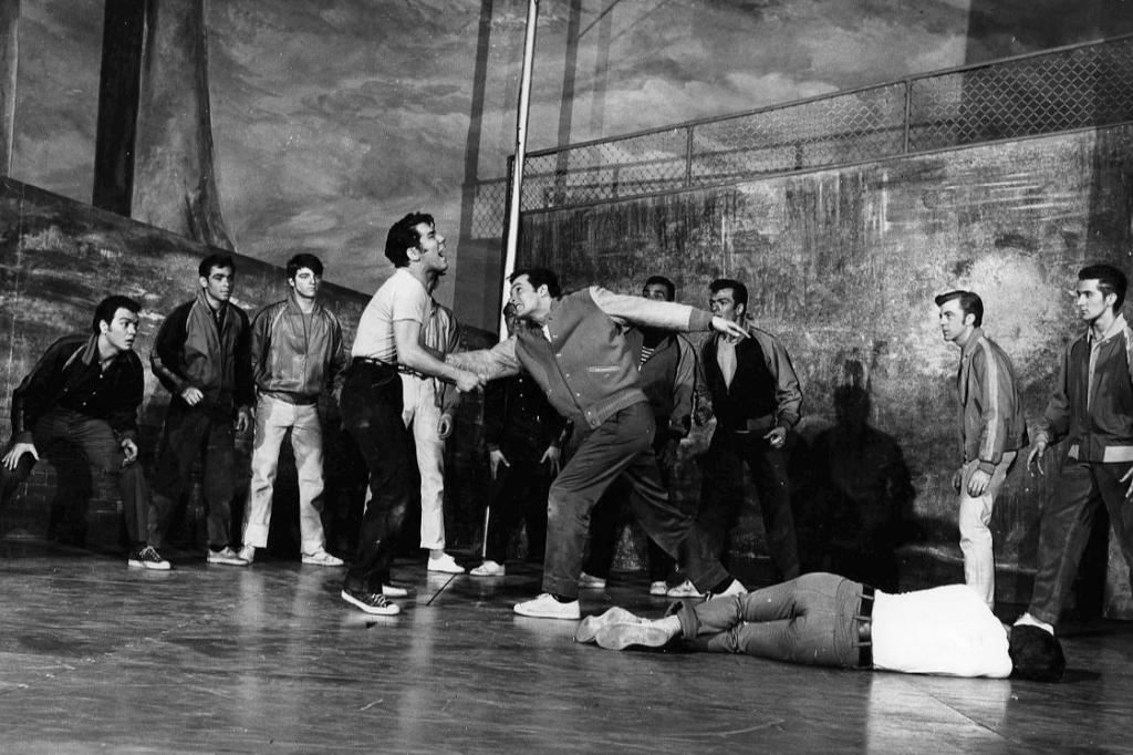 """West Side Story"" en la escena de Broadway. 1957."