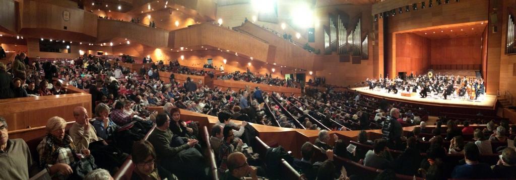 El auditorio, lleno en numerosos conciertos.