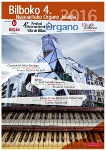 4° Festival Internacional de Órgano Villa de Bilbao - Bilboko 4. Nazioarteko Organo Jaialdia - 2016.  Diseño: www.jmber.com