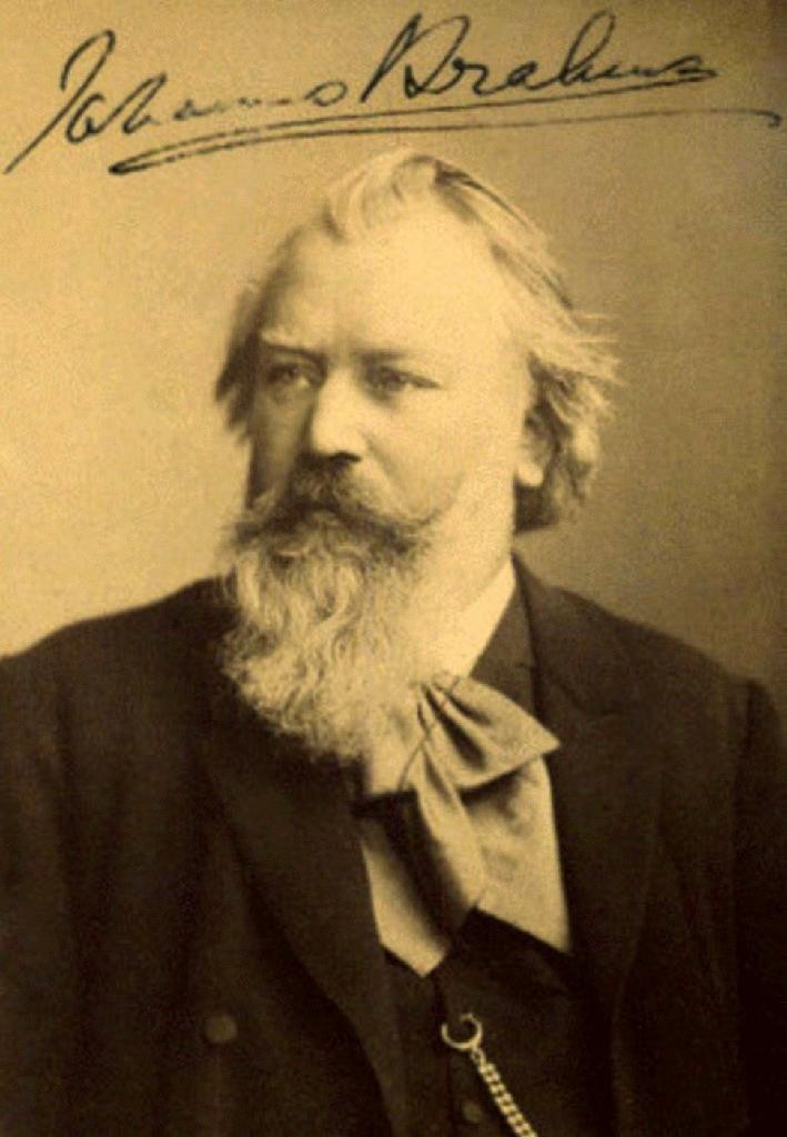 Johannes Brahms. Foto: Carl Brasch.