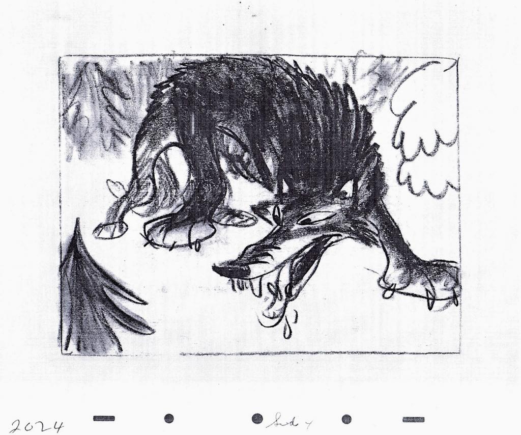 "Boceto para ""Peter and the Wolf"", de Clyde Geronimi, 1946. @ Disney"