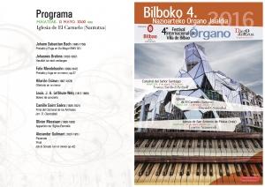 Programa del concierto de Daniel Oyarzabal. Iglesia de El Carmelo 13-IV-2016