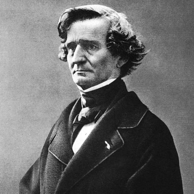 Berlioz retratado por Pierre Petit. Biblioteca Nacional de Francia.