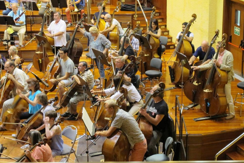 Detalle del enorme aparato orquestal del 'Te Deum'. Foto: fcbk de la Euskadiko Orkestra