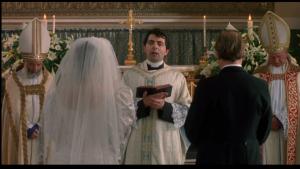 """Fotograma de la película """"Cuatro bodas y un funeral"""" (PolyGram Filmed Entertainment, 1994)"""