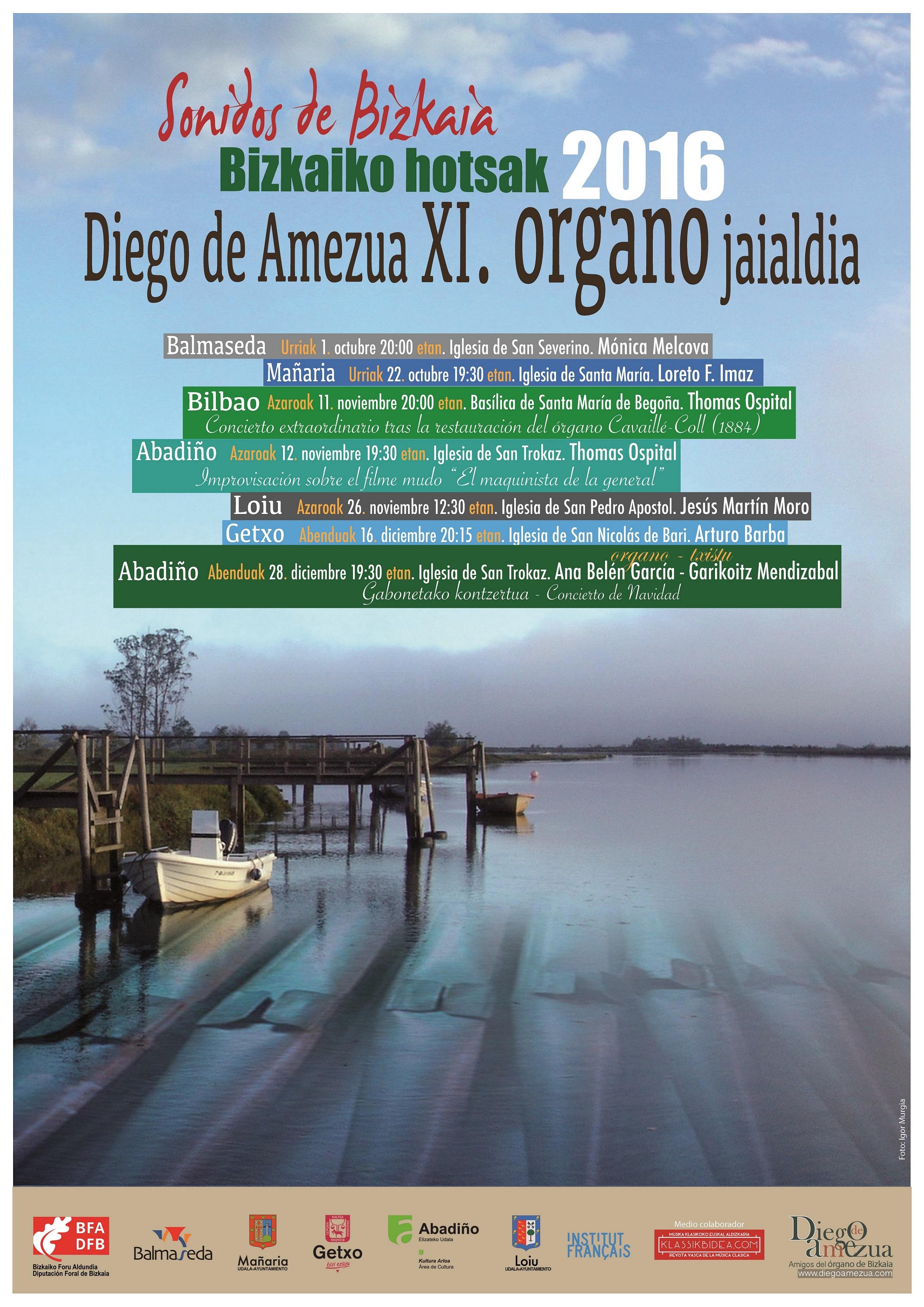 """Presentado el XI Festival de Órgano de Bizkaia """"Bizkaiko hotsak 2016"""""""