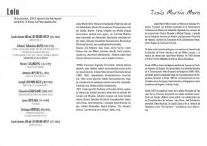 Programa concerto Jesús Martín Moro. Loiu 26-XI-2015