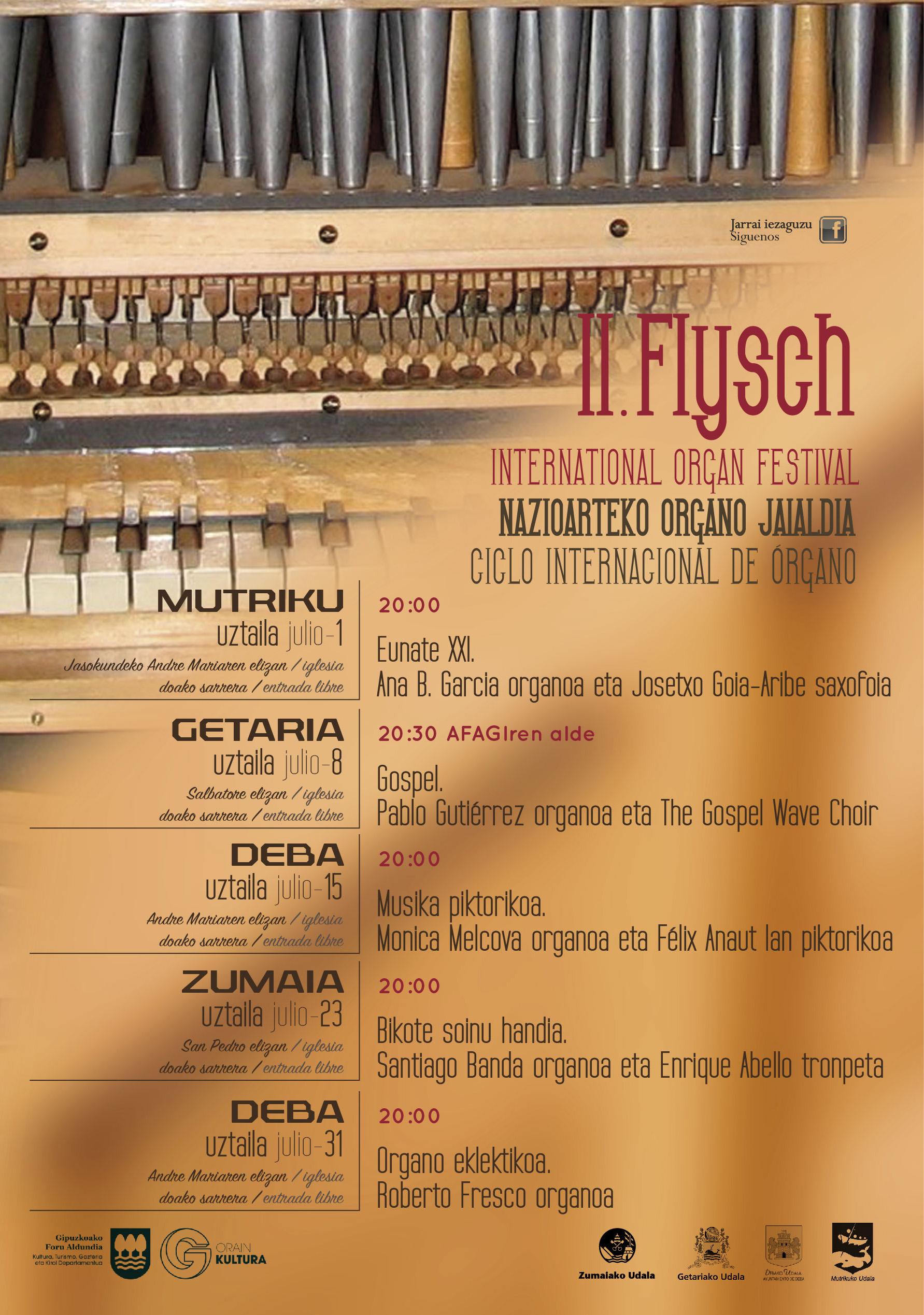 """Presentado el II Ciclo Internacional de Órgano """"Flysch"""""""