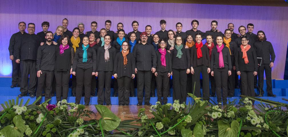 El Coro Euskeria de la Coral de Bilbao triunfa en Ejea de los Caballeros